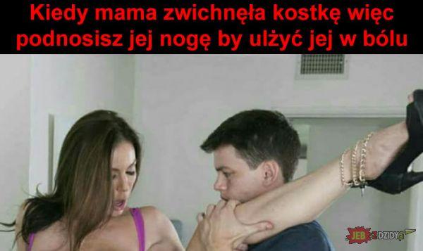 Kiedy mama zwichnęła kostkę