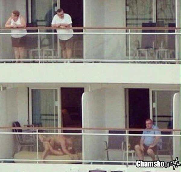 Jebanko na balkonie