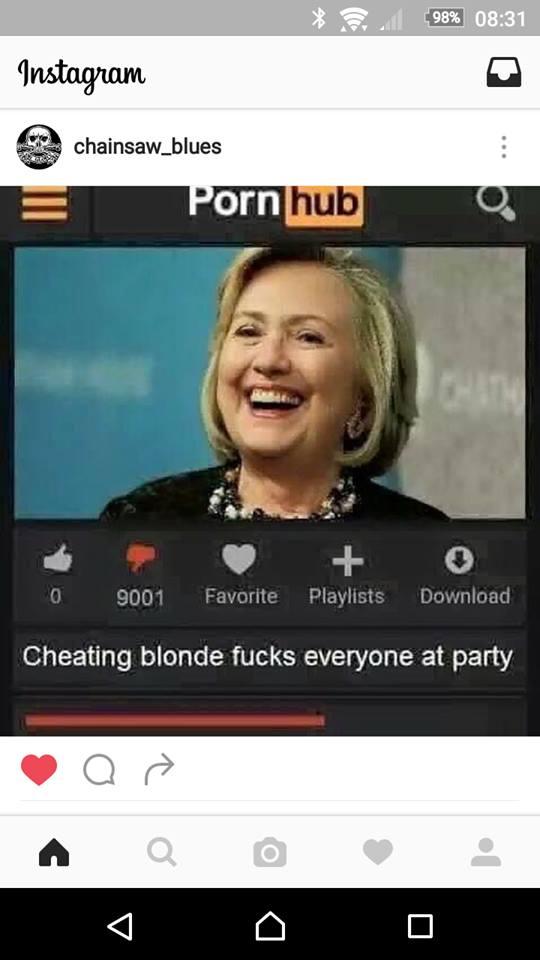 Cheating blonde
