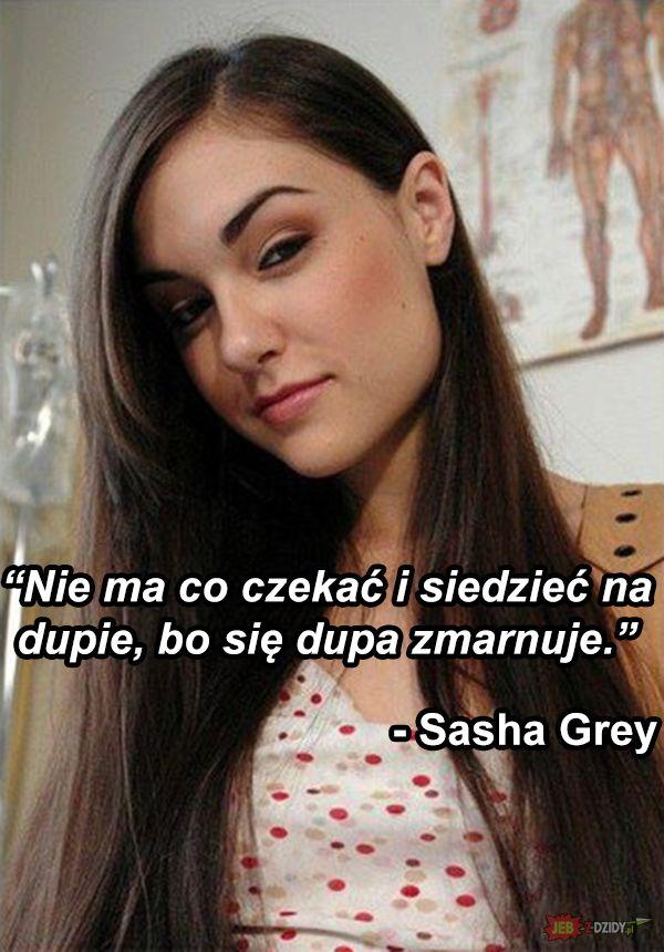 Złota myśl Sashy Grey