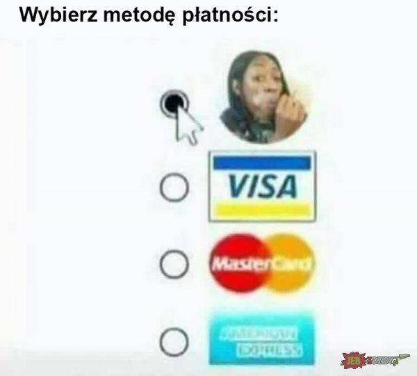 Wybierz metodę płatności