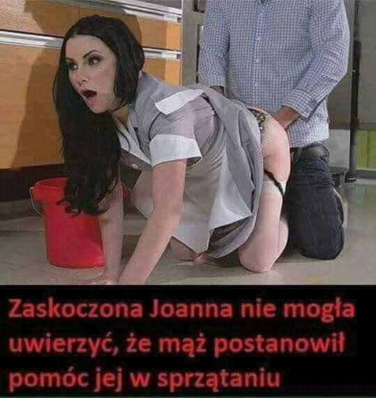 Zaskoczona Joanna