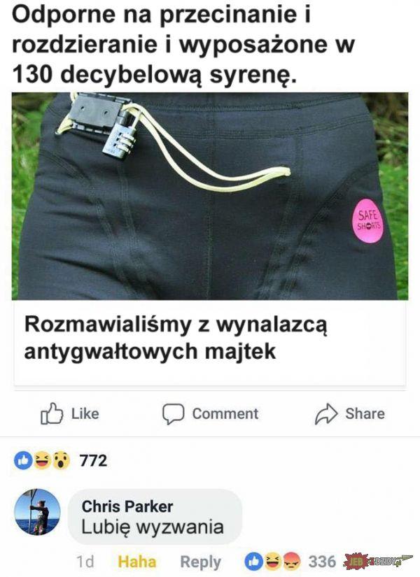 Antygwałtowe majtki