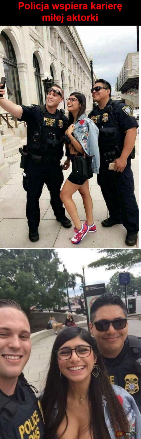 Policja wspiera Mię Khalifę