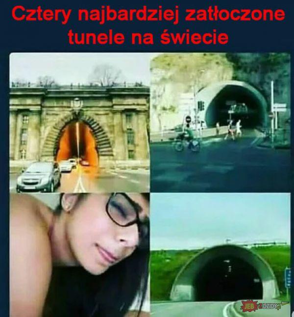 Cztery najbardziej zatłoczone tunele
