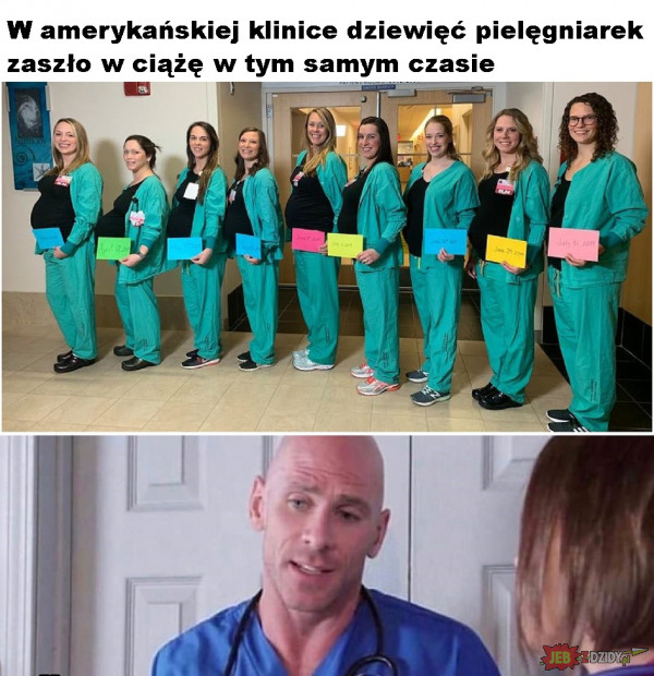 9 pielęgniarek zaszło w ciążę