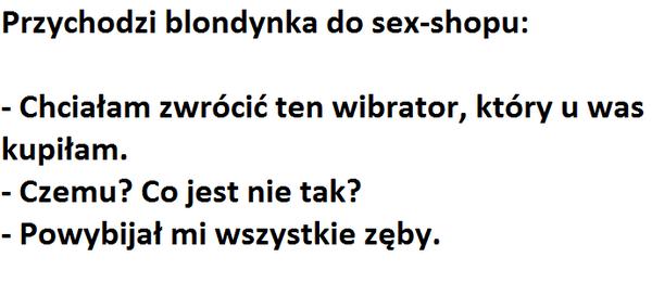 Blondynka w sex shopie