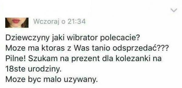 Pytanie o wibrator